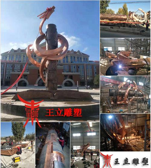 校园锻铜雕塑